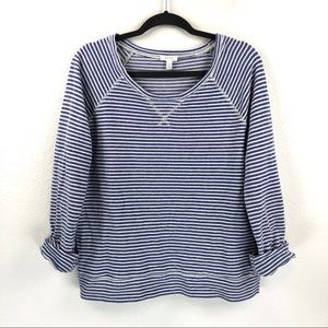 Joie Striped Crew Neck Pullover Sweater Size M